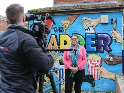A woman getting interviewed at The LADDER Centre, Ferryhill