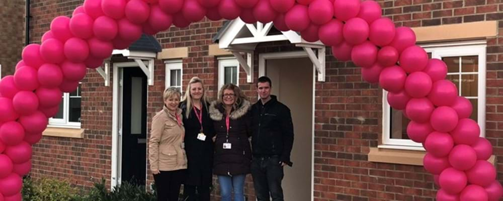 Livin Staff members at a rent to buy open day in Middlestone Moor, Spennymoor